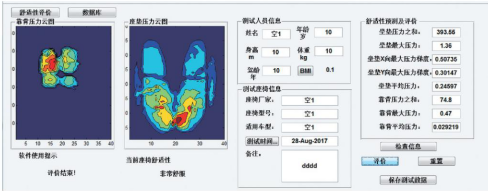 汽车座椅舒适性区间评价方法